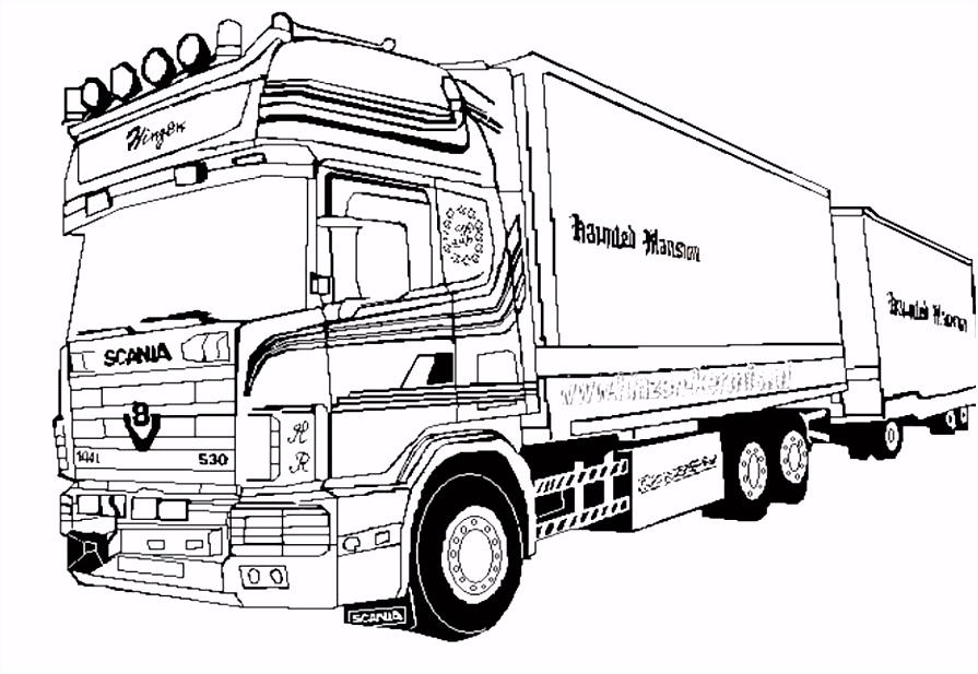 Vrachtwagens Kleurplaten Kleurplaat Vrachtwagen Scania – wakashiraga