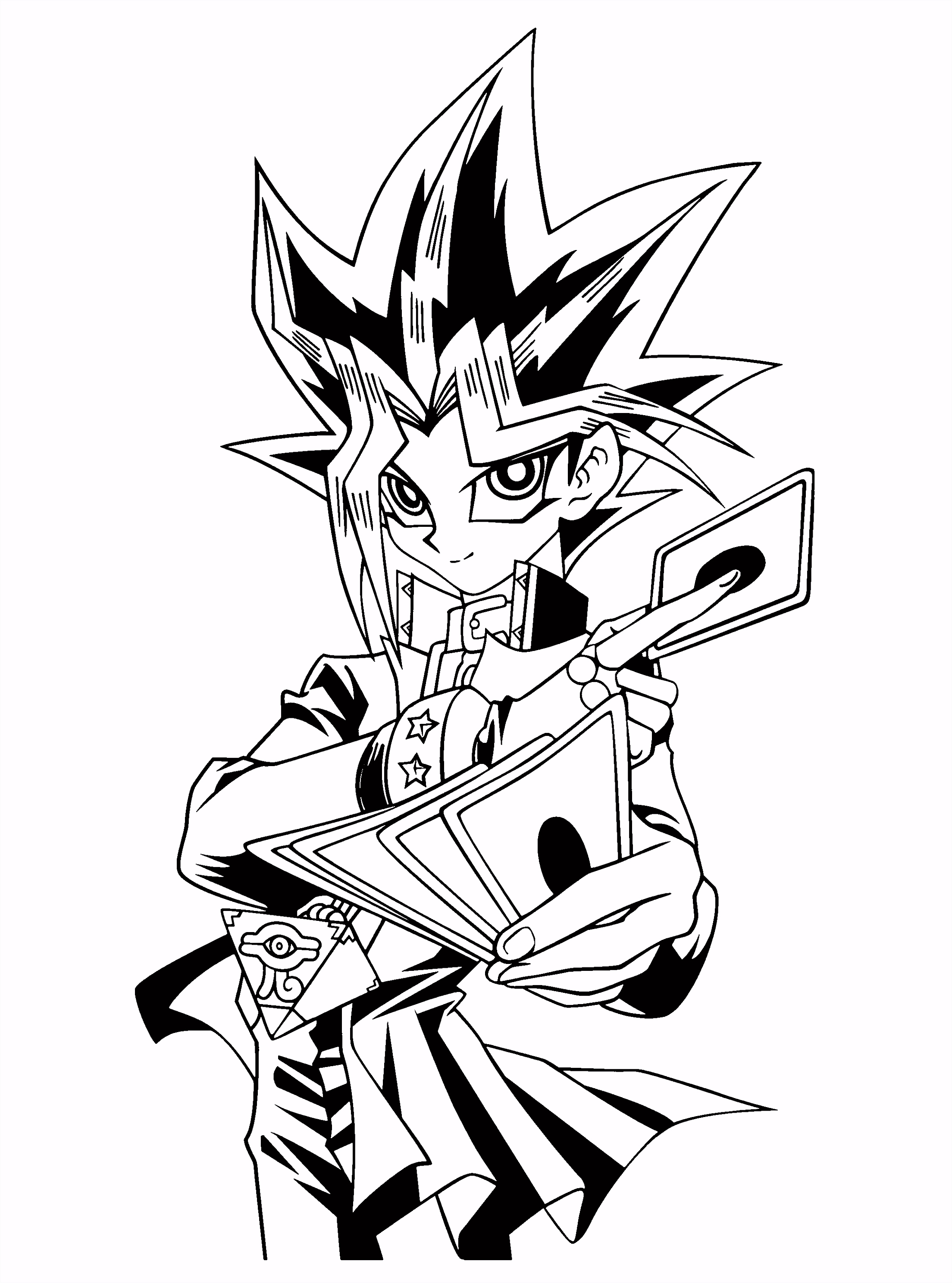 Yu gi oh coloring pages Clip Art Library