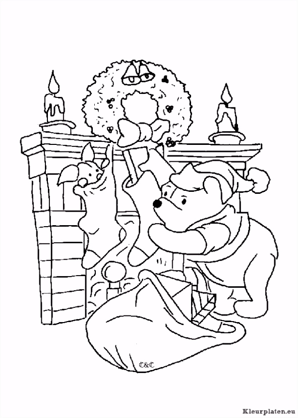 Winnie The Pooh Kerst Kleurplaten ARCHIDEV