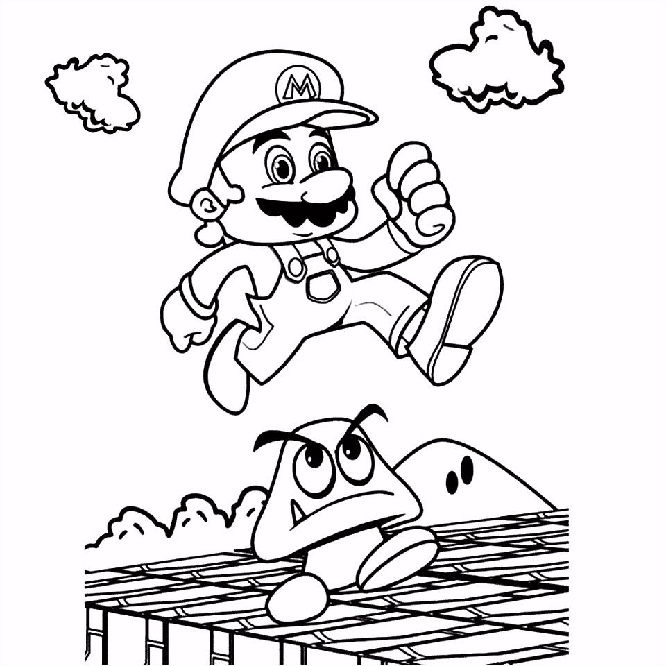 Mario Kerst Kleurplaten Super Mario Bros Kleurplaten R1ia35upg5 U4dshhkvl4