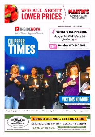 Culpeper Times Oct 18 2018 by InsideNoVa issuu