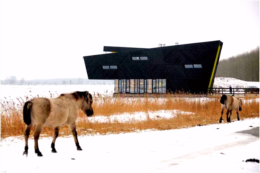 The Oostvaarders Nature Education Centre Almere Holland e architect