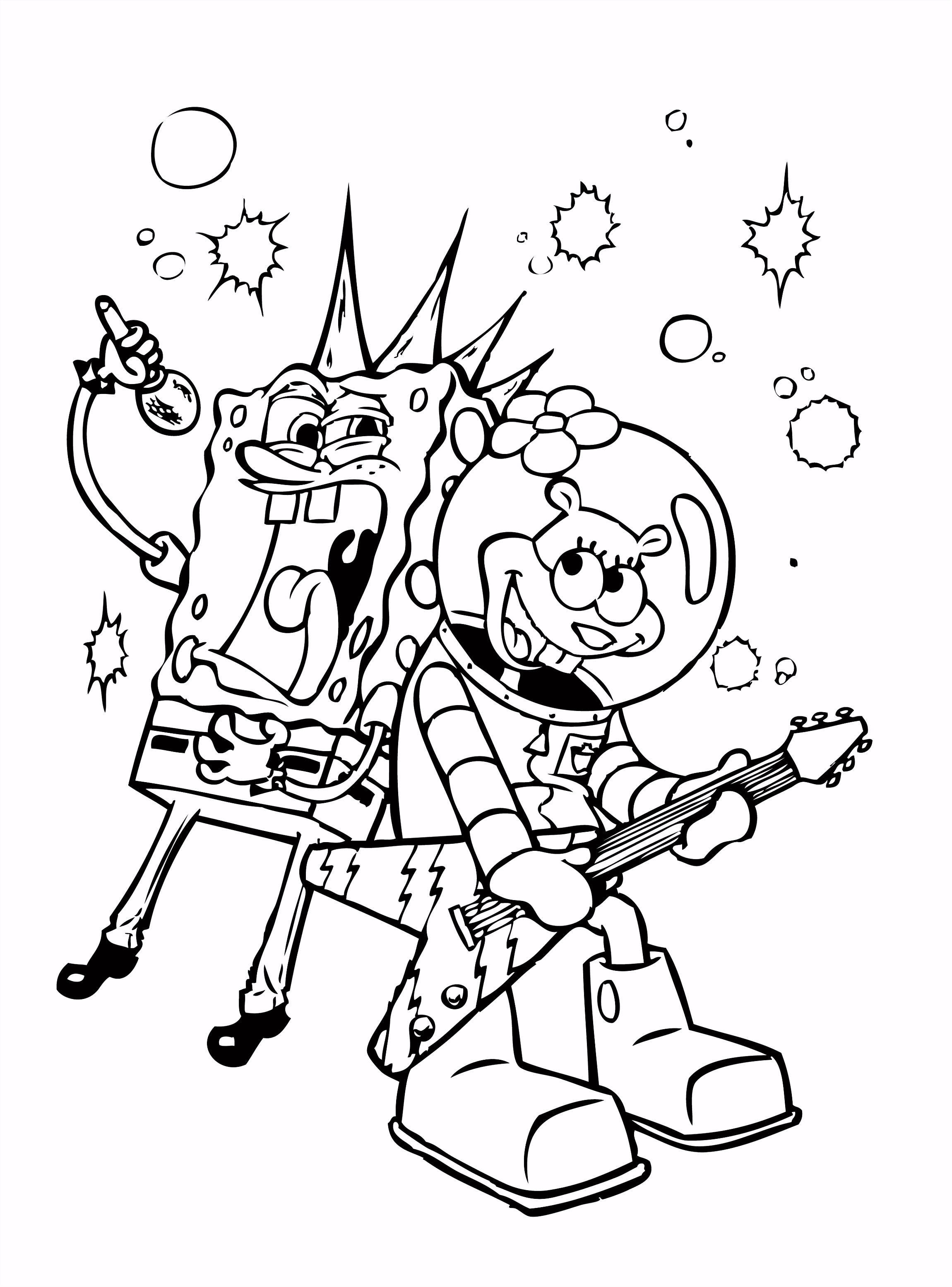 Spongebob Sing Coloring Pages HD Wallpaper Spongebob To