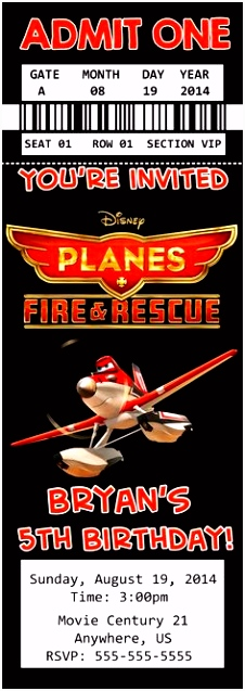 75 best Disney Planes Fire and Rescue Birthday Invitations and party