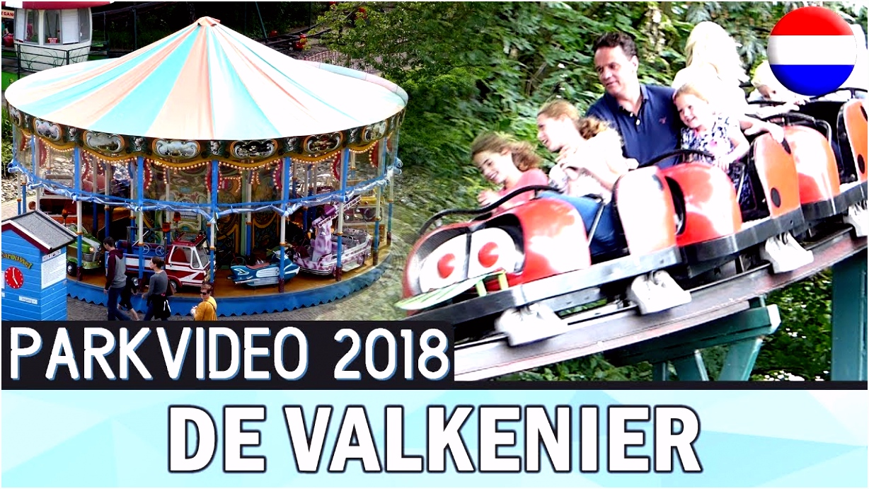 Small Amusement Park in the Netherlands De Valkenier 2018 HD