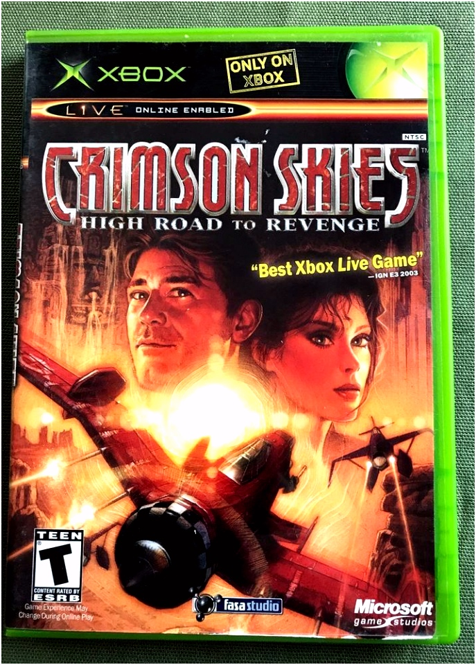 Crimson Skies High Road to Revenge Original Xbox Game plete