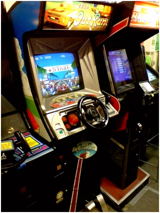 Pole Position Arcade Cabinet Picture of Retro Games Karlsruhe