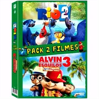 Pack Rio 2 Alvin e os Esquilos 3 Vários DVD Zona 2 pra
