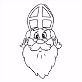 Kleurplaat Sinterklaas en Zwarte Piet