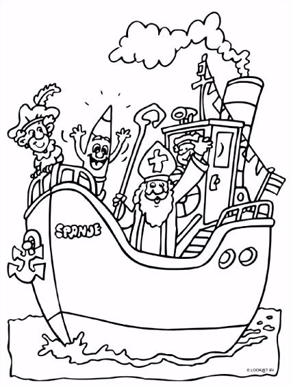 Sinterklaas En Zwarte Piet Kleurplaat 5 December Kleurplaat Zwarte