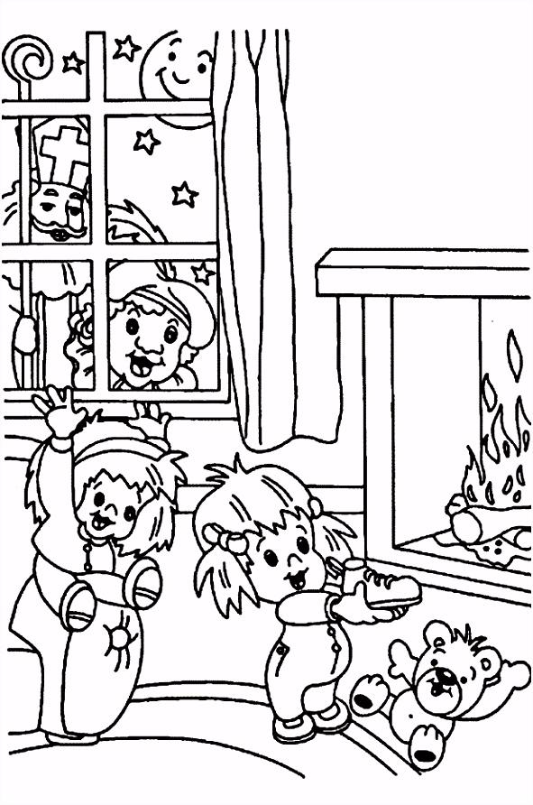 Kleurplaat Schoen Sinterklaas ARCHIDEV