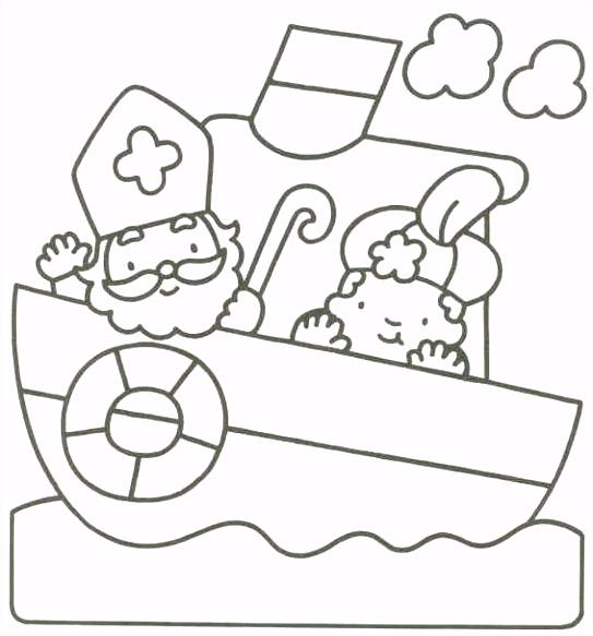 Sinterklaas… Kleurplaat Sinterklaas