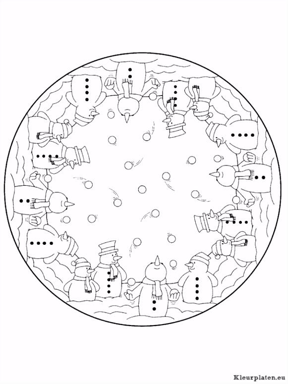 Mandala kerstmis kleurplaat 4437 kleurplaat