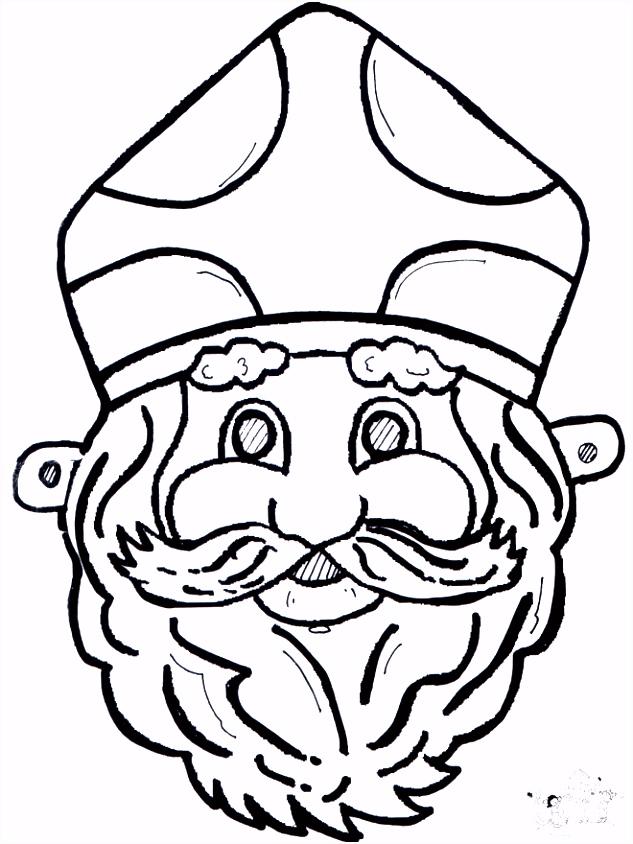 Sinterklaas masker Knutselen Sint