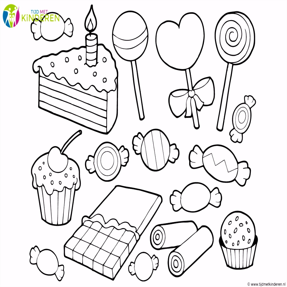 Snoep Kleurplaten Beste Van Sinterklaas Snoepgoed Kleurplaten
