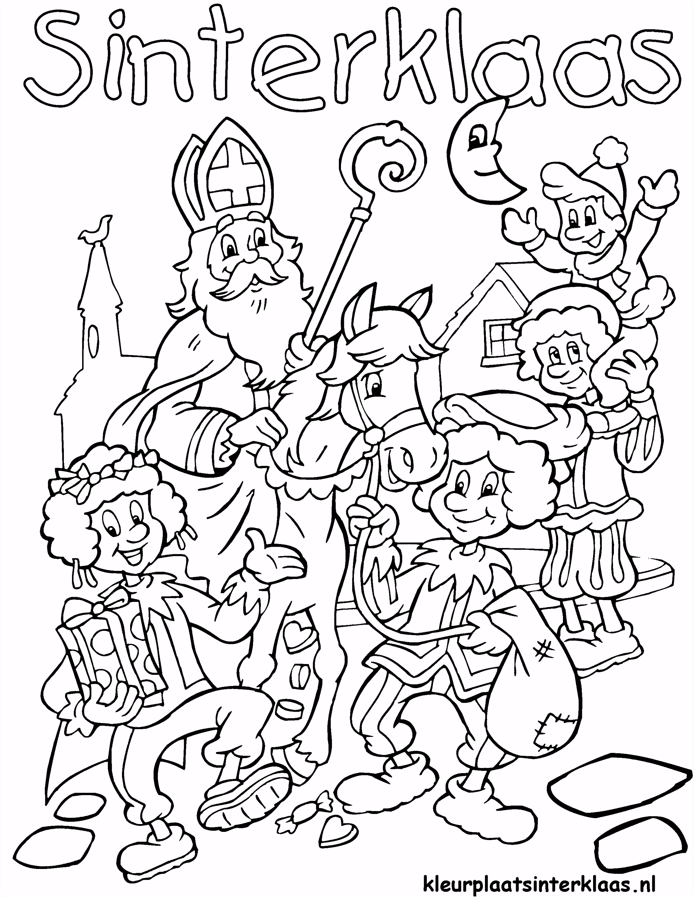 Ben je al helemaal klaar voor de intocht van Sinterklaas Kleur snel