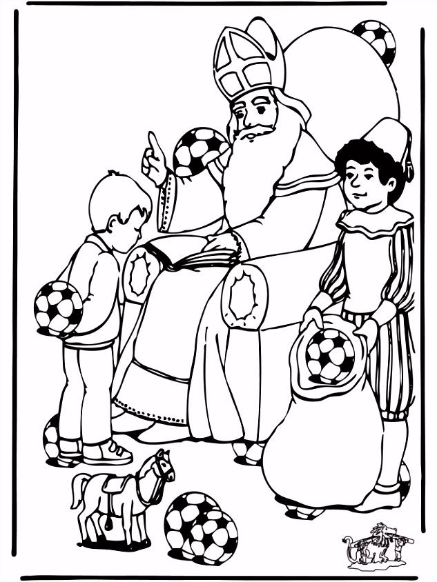 Zoek 10 voetballen Knutselen Sint