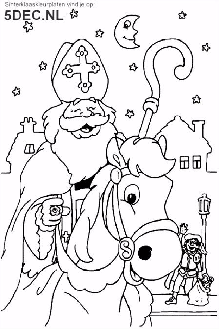 Sinterklaas knutselen Sinterklaas kleurplaten Sinterklaas op paard