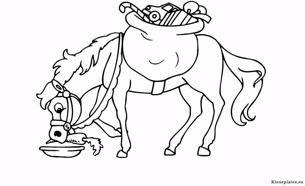 Paard Van Sinterklaas Kleurplaten