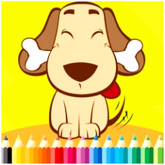 Hond Coloring Book For Kids Tekenen & Kleurplaat games gratis om te