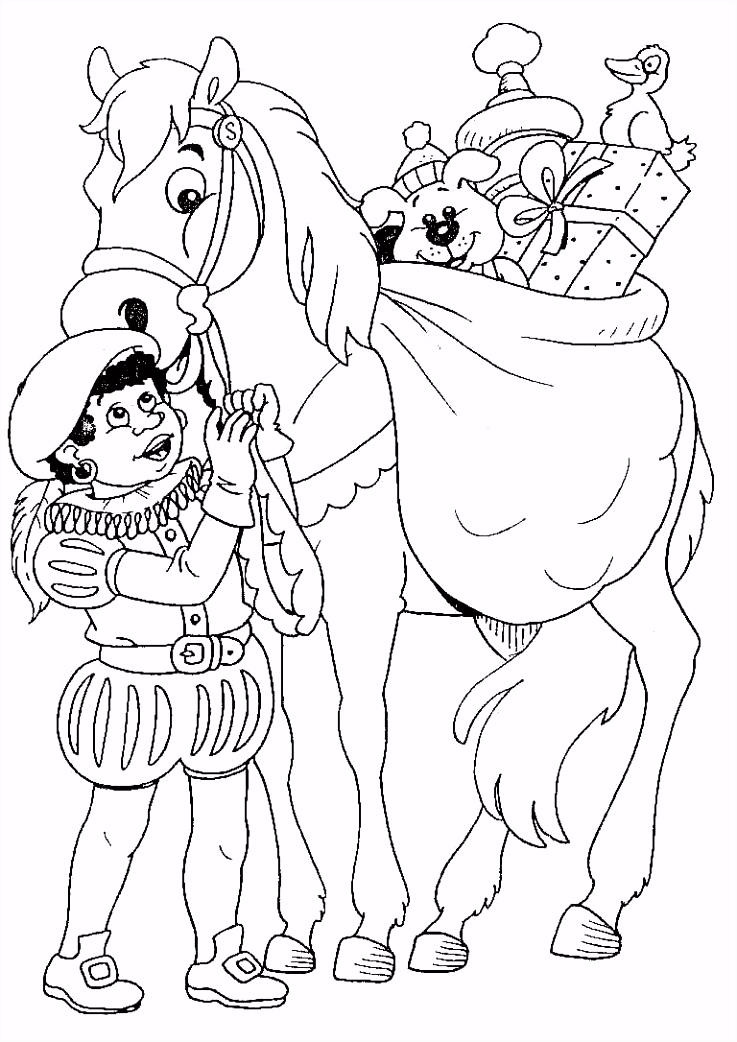 kleur sinterklaas kleurplaat Sinterklaas Knutselen Sinterklaas