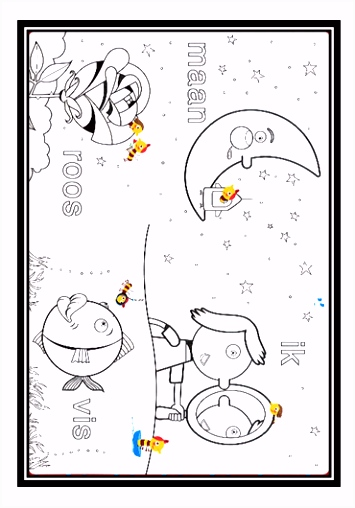 Kleurplaat Maan Vll ARCHIDEV