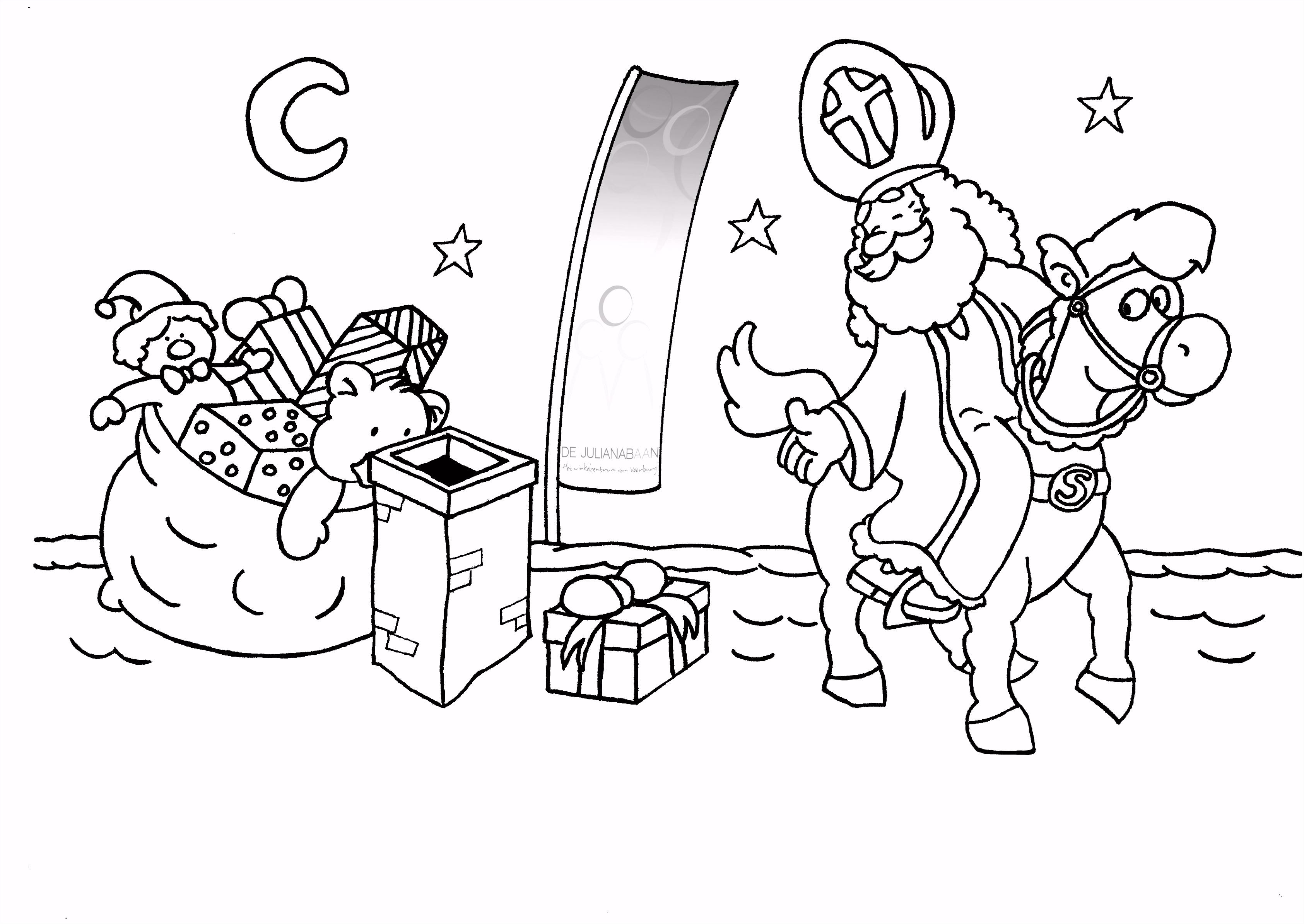 Kleurplaten En Zo Sinterklaas
