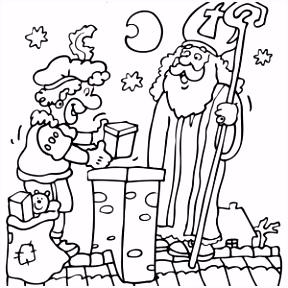 Sinterklaas Kleurplaten Die Je Zelf Kan Kleuren Op De puter