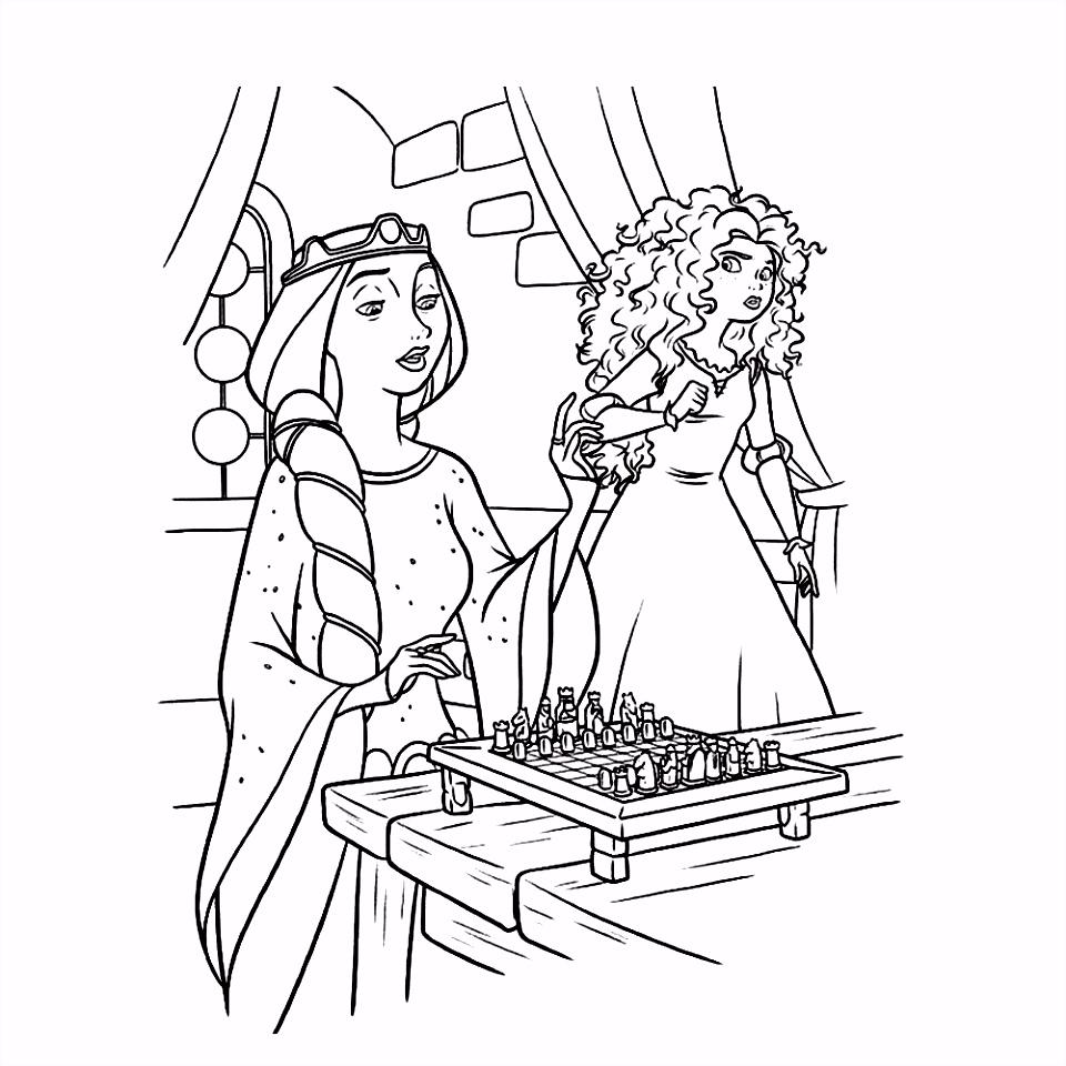 Leuk voor kids – Prinses Merida met de koningin