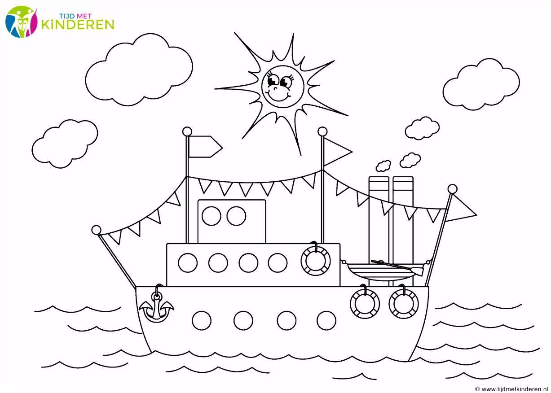 Sinterklaas Stoomboot Kleurplaat ARCHIDEV