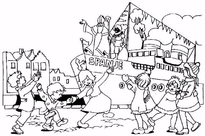 Stoomboot Sinterklaas Kleurplaat ARCHIDEV