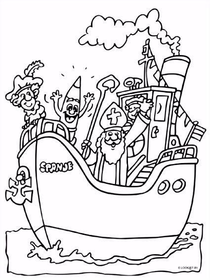 Pakjesboot Sinterklaas Kleurplaten Pinterest