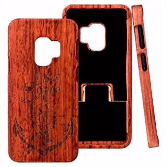 ZXK CO Galaxy S9 Hülle Holz Echt Holz Handyhülle Schutzhülle Schutz