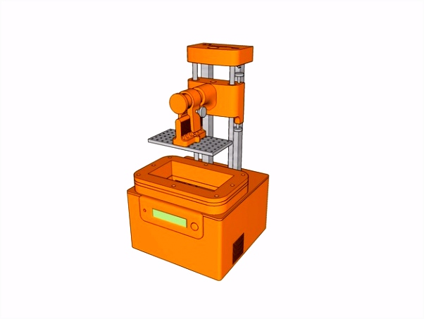 FDM printed SLA Printer by TOS by Tinkering Steroids Thingiverse