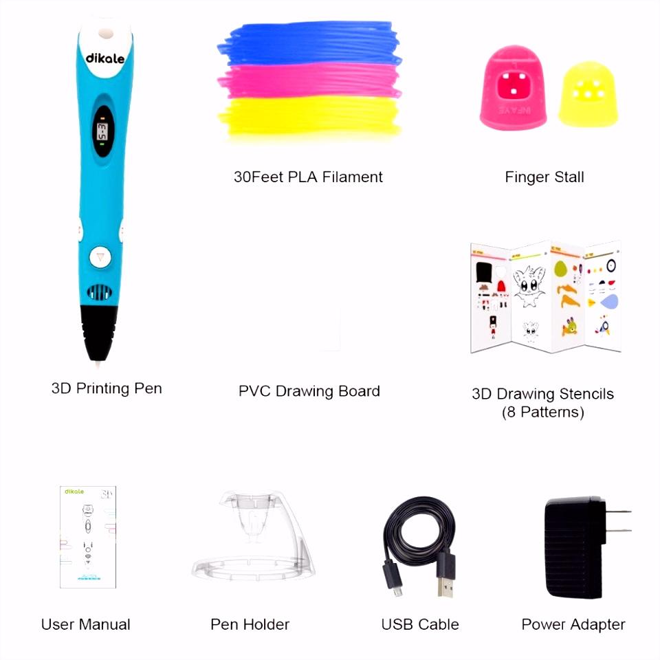 Dikale 3D Druck Stift Neueste Version 3D Stift Zeichnung Drucker