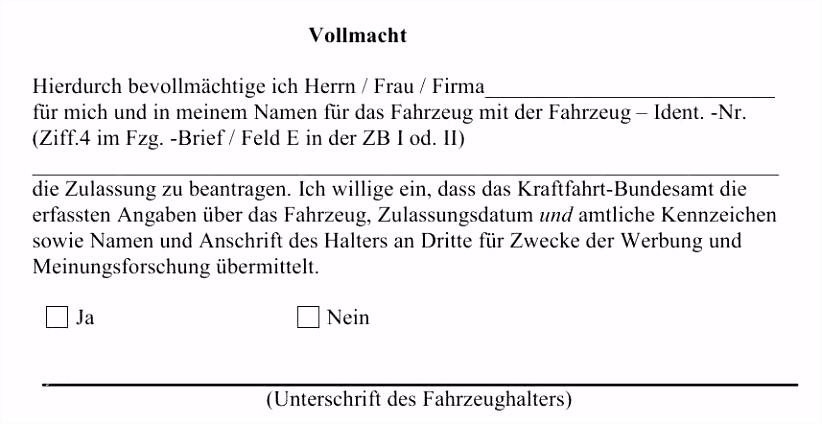 Vollmacht Vorlage Zeugnis Abholen Genial Datenkrake Kfz Zulassung