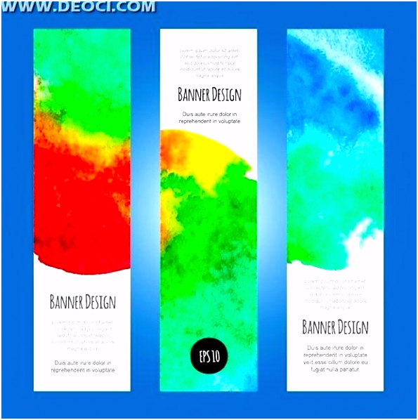 3 Colorful Ink X Banner Vertical Design Template File To Download