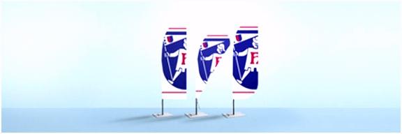 Beachflag Segel gerade Beachflags bei Fahnen Herold kaufen