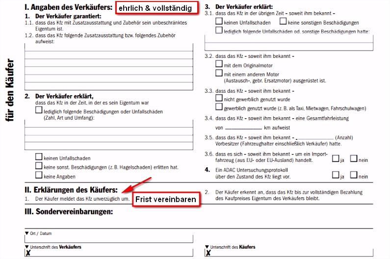 Auto Kaufvertag Privat Tipps & Mustervertrag für Privatpersonen