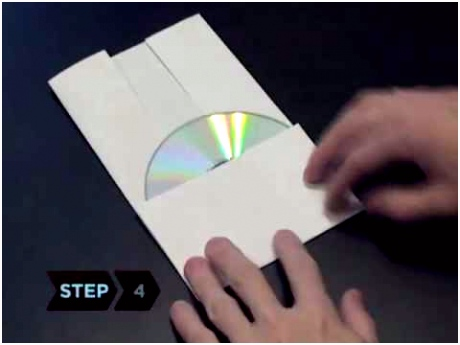 How to Make a CD or DVD Case Out of a Piece Paper