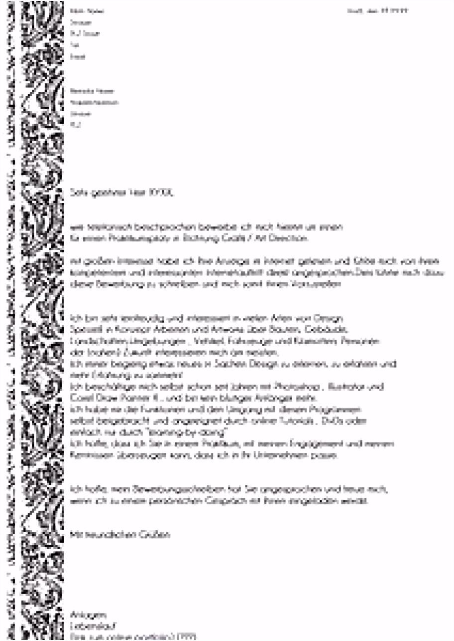 Original Bewerbungsschreiben Für Einen Als Sozialassistentin