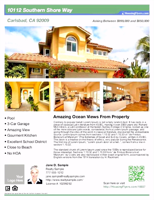 House for Sale Brochure Template Luxury the Flyer Template Word