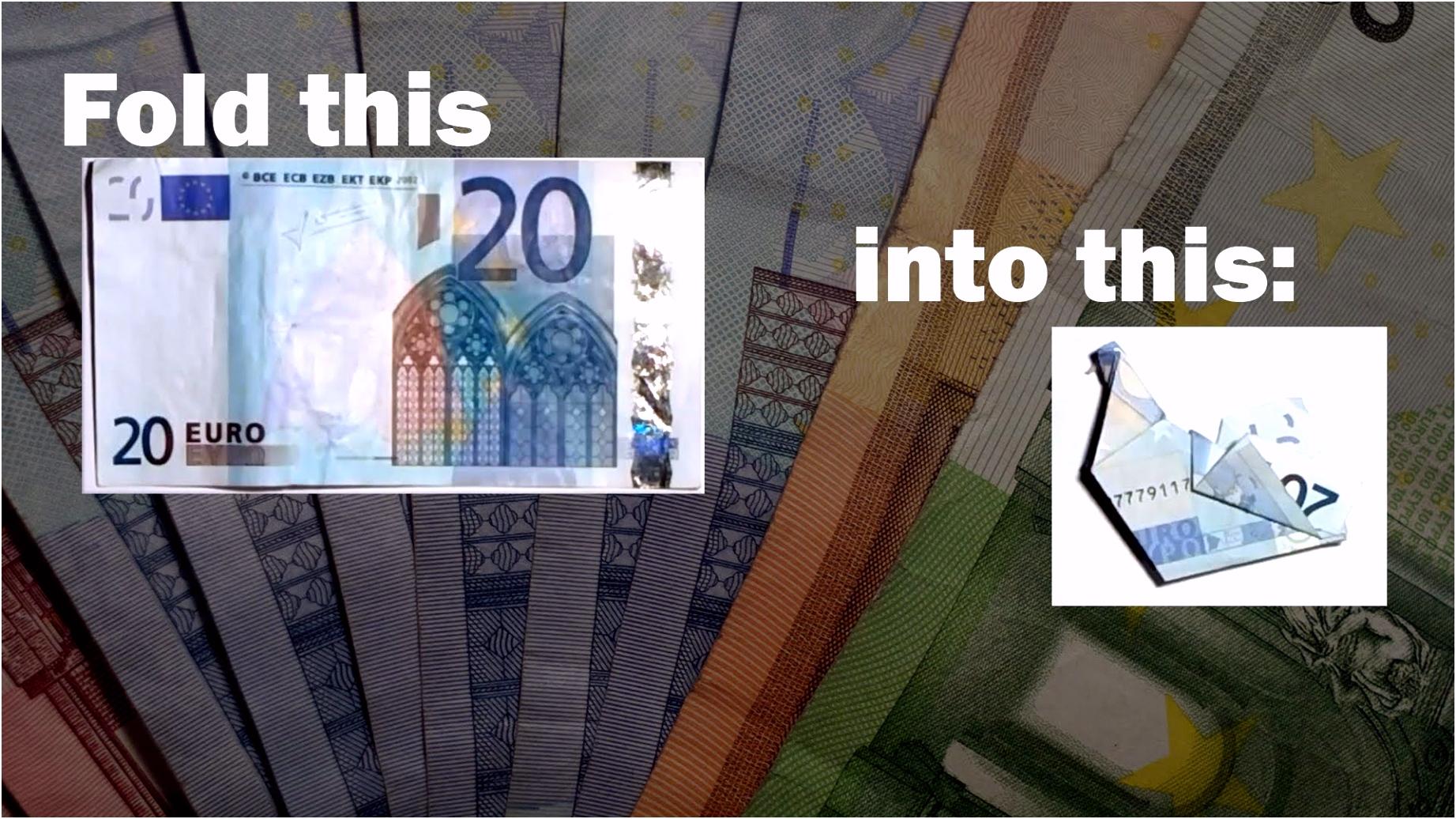Geldscheine Falten Herz 50 Euro Geldscheine Falten Schmetterling