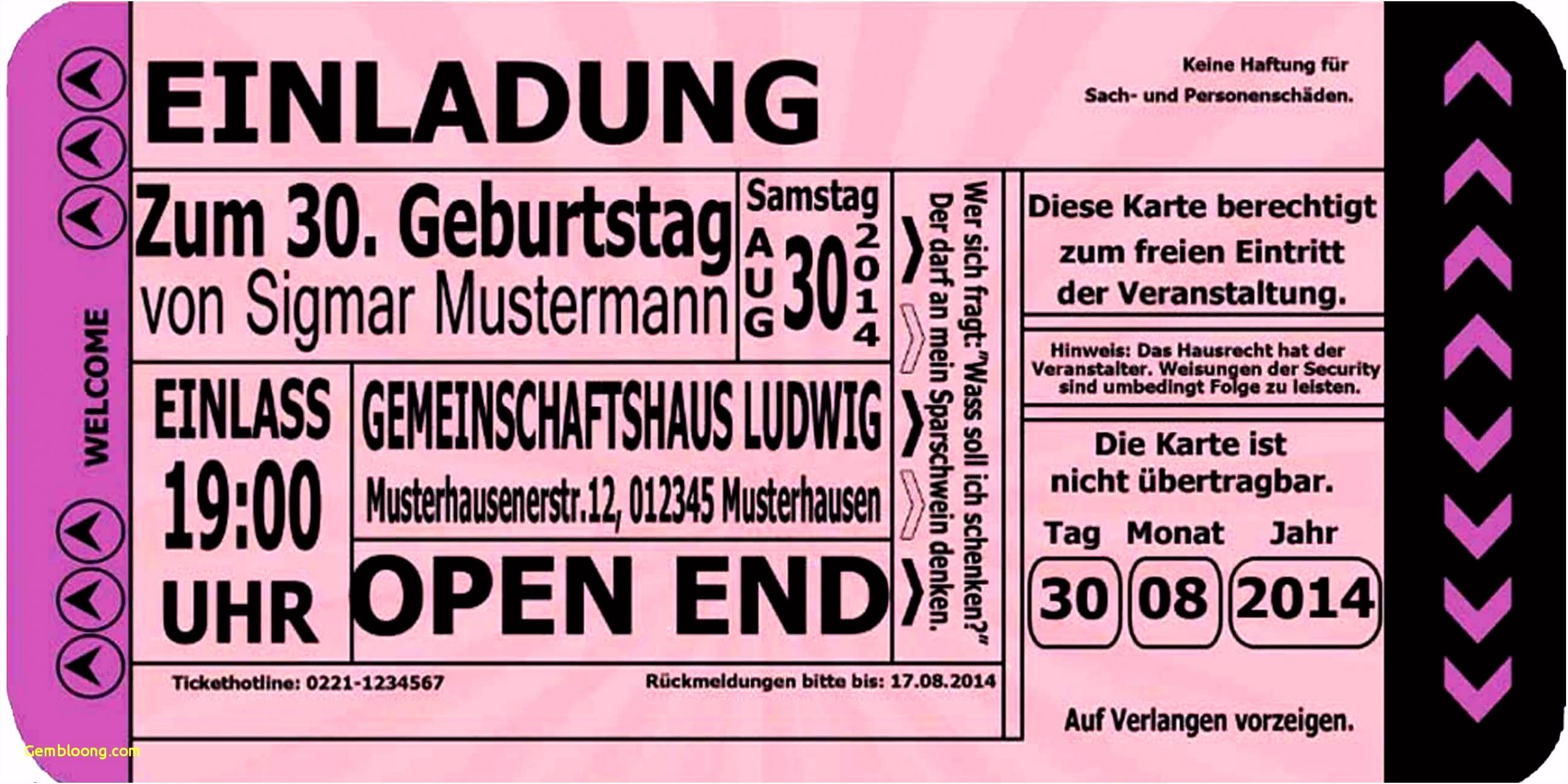 Schön Einladungskarten 30 Geburtstag Vorlagen Kostenlos