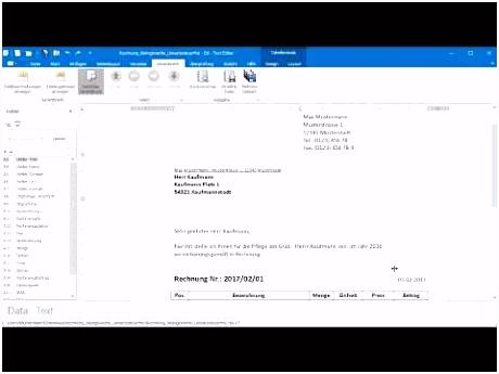 Rechnung Kleingewerbe anhand von Word und Excel Vorlage als PDF