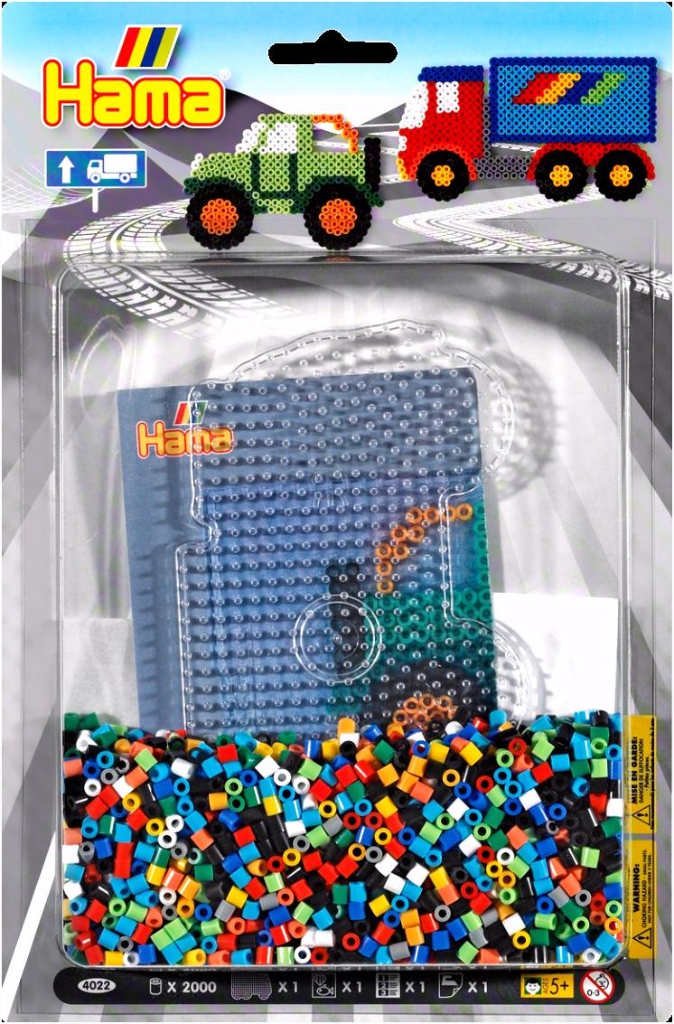 Hama Midi Bügelperlen Blister Packung Trucks