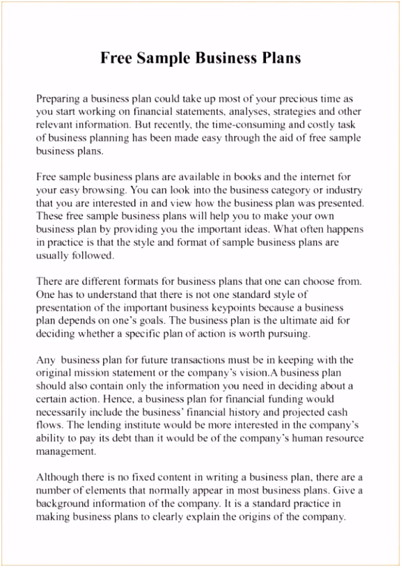 Business Proposal Letter Sample Pdf Unique Business Plan Template to