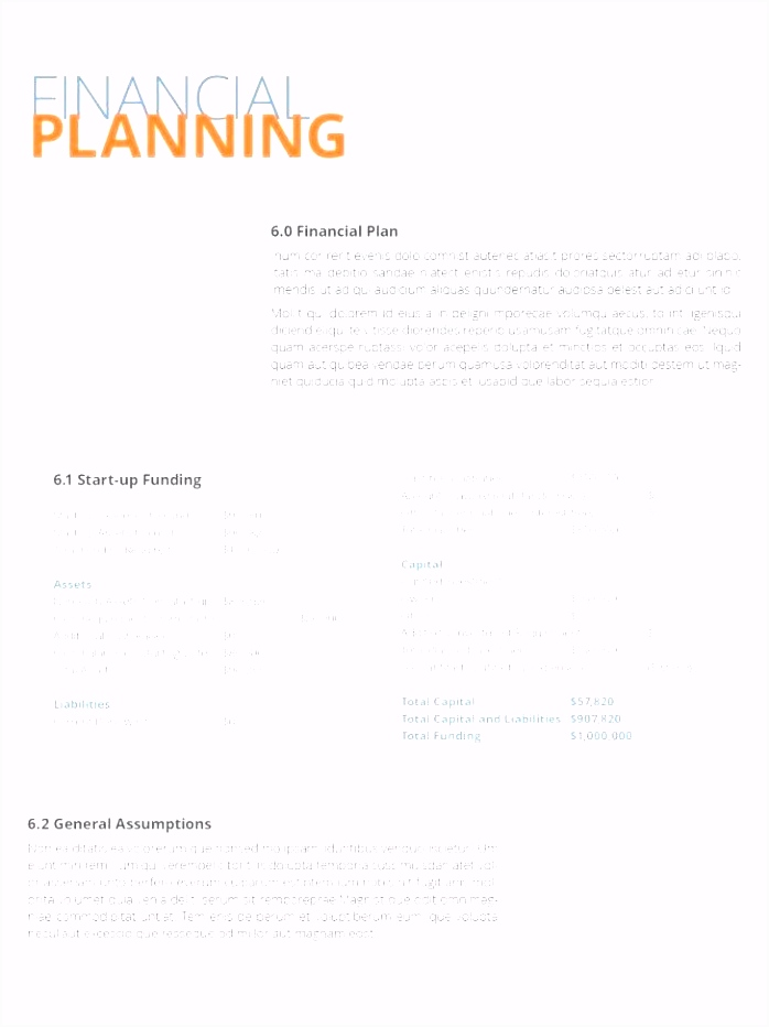 Startup Business Plan Template Financials Excel Financial – purly