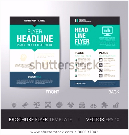 Corporate Brochure Flyer Design Layout Template Stock Vektorgrafik