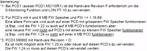 PCD Firmware Hardware abhängigkeiten